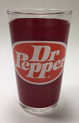 Vintage Dr Pepper Drinking Glass 8 Ounce Glass Soda Collectible Rare
