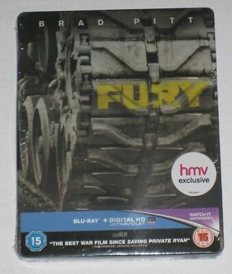 Fury HMV Exclusive Blu Ray Steelbook - Sealed Collectors Limited New UK