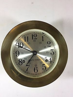 Working Antique Brass Seth Thomas Corsair Ship Bell Clock E537-000 Nautical