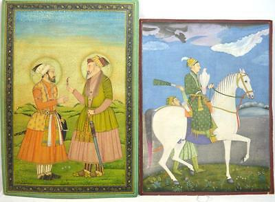 Two Fine Early Mughal Miniature Painting Lot 187