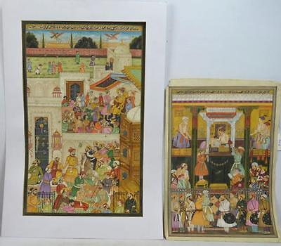 Two Indian or Mughal Miniature Painting Lot 186