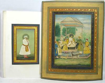 Two Fine Early Mughal Miniature Painting of a Rule Lot 185
