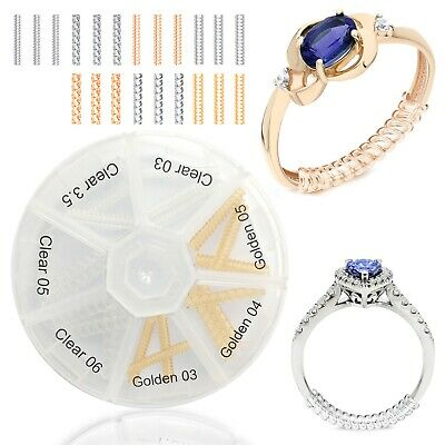 Ring Size Adjuster Sizer Clip Guard Size Reducer Loose Rings 21pcs /Storage Box
