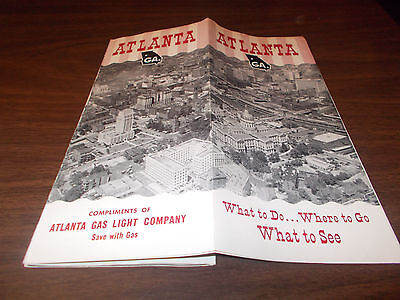 1950s Atlanta, GA Travel Brochure and Map / Great Vintage Pictures and more !!