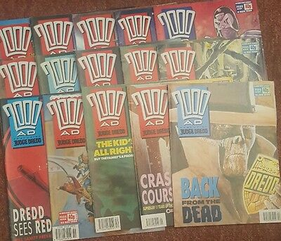 2000ad collection of 15 comics from 1989 and 1990