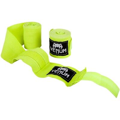 Venum Kontact Hand Wraps Yellow 2.5M Boxing Muay Thai Kickboxing Striking MMA