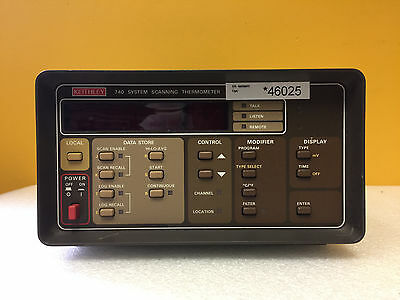 Keithley 740 -200° to 1820° C Range, GPIB, Scanning System Thermometer Mainframe