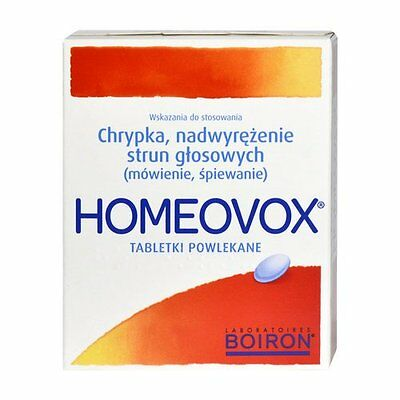 Homeovox - 60 coated tablets - soothes tired vocal cords