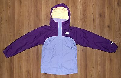 Girl's THE NORTH FACE RESOLVE Hyvent Hooded Rain Jacket Size Small 7/8 Purple