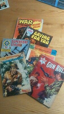 Old vintage comics War, Love Story, Air Ace