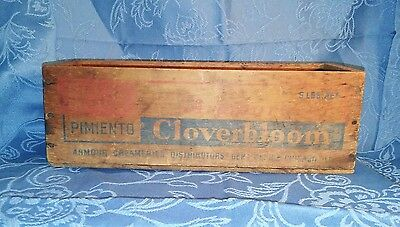 Vintage~Armour's Cloverbloom 5 lb. Wooden Cheese Box-NO LID-Pimiento Cheese