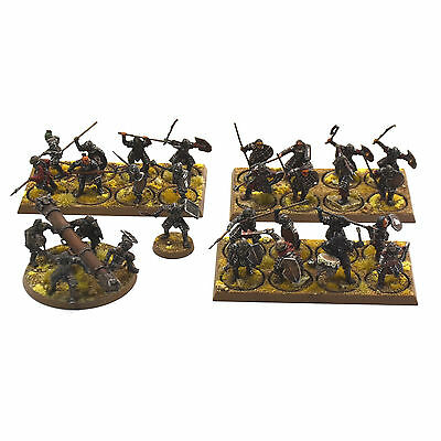 LOTR 25 Morannon Orcs Small Army Drummer Captain Battering ram PRO PAINTED trays