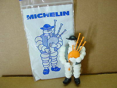 "Michelin Man Bibendumin European Made Toy 5"" Figure Playing Bagpipes Mint In Bag"