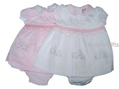 Girls Traditional Spanish Style Hand Embroidered Smocked Dress & Pants 0-12 Mth