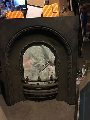 Antique Victorian Cast Iron Arched Fire Place Insert