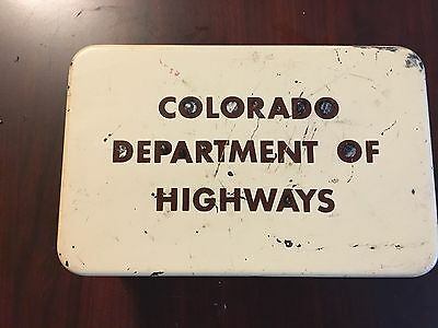 Vintage First Aid Kit State of Colorado Department of highways/ metal