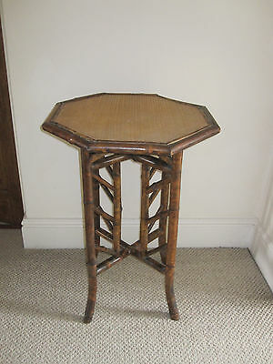 Victorian octagonal bamboo table