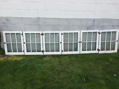 6 Shabby Chippy Antique 6 Pane Old Flat Glass Paint Wood Mullions Window Pickup