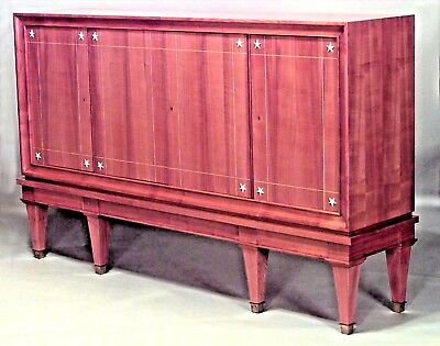 French 1940s Cherrywood High Sideboard Cabinet