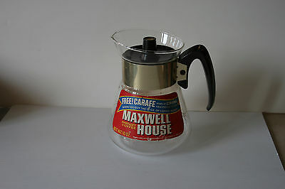 Vintage Maxwell House Corning Glass Coffee Pot 10 OZ. Promo AD