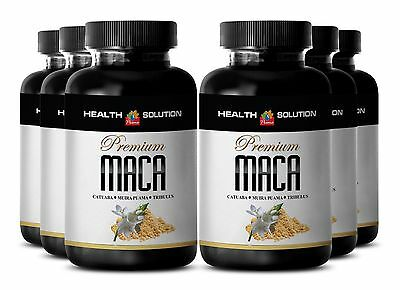 Sexual Supplement - PREMIUM MACA 1300MG - Organic Enhancement 6 Bottles