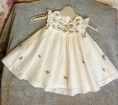 Mamas & Papas Gorgeous Party Occasion Dress 0-3 Mths New! Stunning!