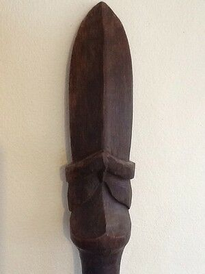 Fine antique Maori Taiaha, tribal fighting staff New Zealand quarterstaff, NR!