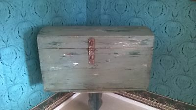 vintage wooden chest ottoman