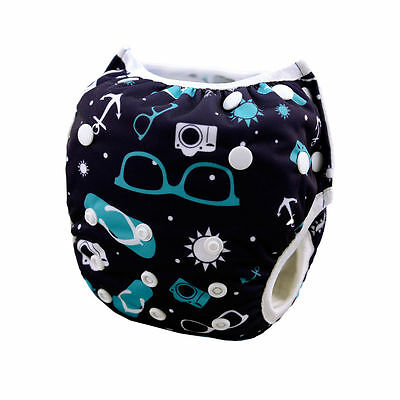 Blue Baby Swimming Pool Pants Diaper Washable Reusable Breathable 10-40lbs Swim