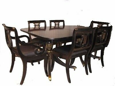Vintage Dining Room Set, 10 Piece w/ Breakfront, Corner Cabinet, & Mirror