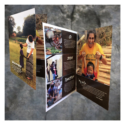"6""x9""  Small Quantity Full Color Printed Presentation Folders quantity 100"