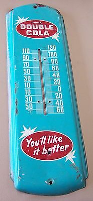 Vintage 1950's-60's Double Cola Thermometer