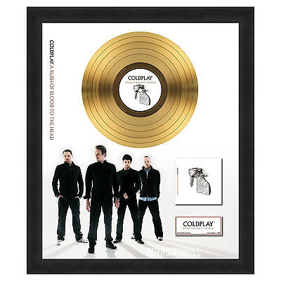 Coldplay Collectible: A Rush of Blood to the Head Framed Gold Record LP Record