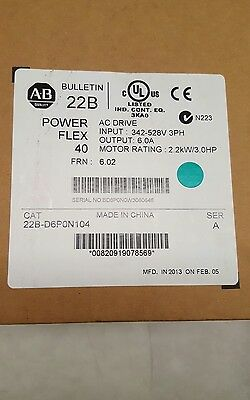 Allen bradley drive 22B-D6P0N104 **NEW IN ORIGINAL BOX** Mfg 2013