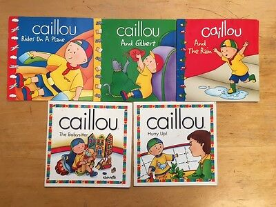 Lot Of 5 Caillou Children's Books #2955 FREE SHIPPING