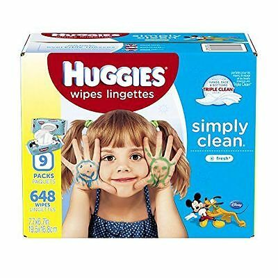 Huggies Simply Clean Baby Wipes Fresh Scent Soft Pack 648 Ct -Packaging May Vary
