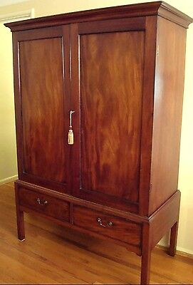 "Antique Chippendale Circa 1780's Mahogany Linen Press Rare Form ""shipping Deal"""