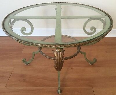 VINTAGE IRON ROCOCO STYLE COFFEE/ ACCENT TABLE, CIRCA 1920s.