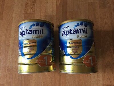 Aptamil Gold + Formula 2 Tins Birth To 6 Months Sealed