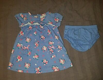 VGUC Carters Baby Girl Clothes 3-6 Months Two Piece Flower Dress Bloomers Set