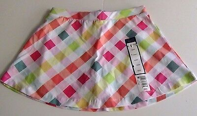 Girls Size 4/5 Skirt Skort NWT Pink Mulit-Color Plaid