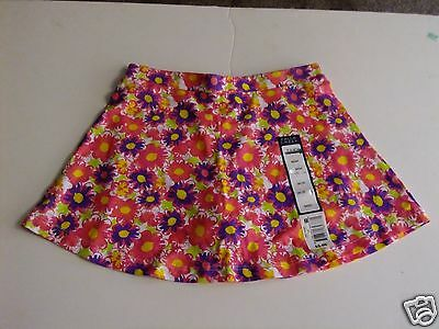 Girls Size 4/5 Skirt Skort NWT Pink Mulit-Color Flowers