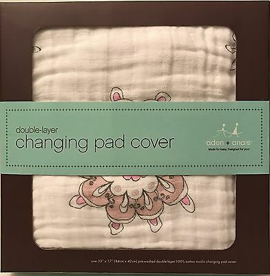 Aden + Anais Muslin Changing Pad Cover | For The Birds Medallions | Ships Free