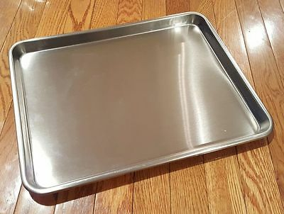 "Large Instrument Tray Stainless Steel Tattoo/Piercing Medical Dental 16"" x 13"""