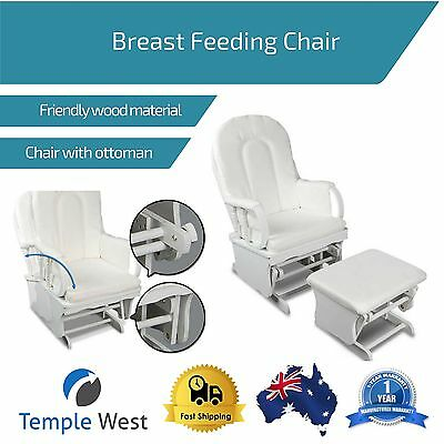 Breast Feeding Gliding Nursing Chair Rocker Rocking Mother Baby Glider Home