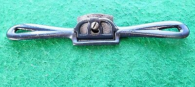 spoke shave metal spokeshave curved sole old carpenter's tool vintage /1453