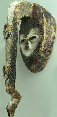 Rarity old Kwele Mask Gabon old Germany collection