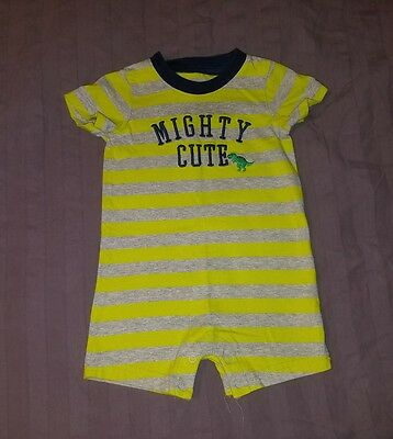 VGUC Carters Baby Boy Clothes 6-9 Months One Piece Short Sleeve Dino Romper