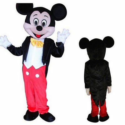 New Mickey Mouse Mascot Costume Adult Fancy Professional Halloween Size