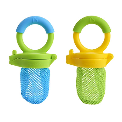 2 Pack - Assorted Colors Munchkin  by Fresh Food Feeder...new
